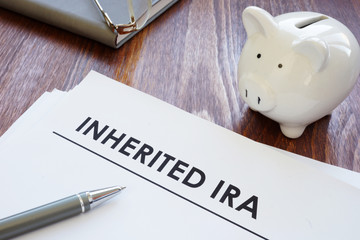 Conceptual photo showing printed text inherited ira