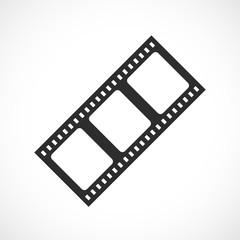 Vintage film strip vector icon