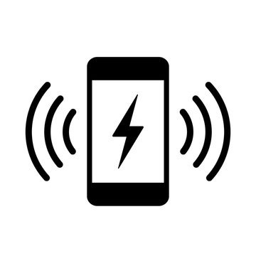 Phone charging vector icon