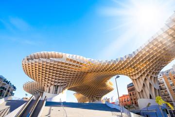 SEVILLE, SPAIN - 12 March 2019: Metropol Parasol (Seville Mushrooms) photo