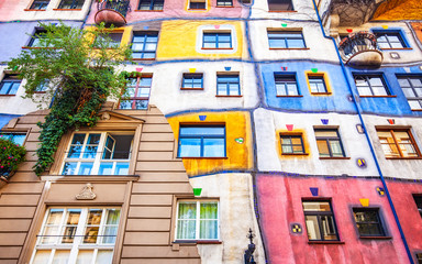 Hundertwasser house in Vienna, Austria, June 22, 2019