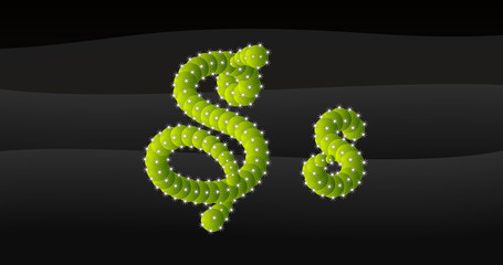 Obraz S-s 3D Cactus Alphabet - fototapety do salonu