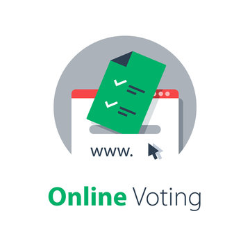 Internet voting, submit online, government services, upload document