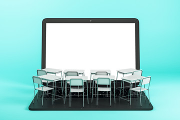Online education and web concept