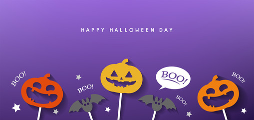 happy halloween day banner vector design 2019 Wall mural
