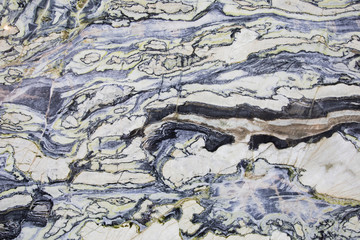 Spoed Fotobehang Marmer Marble texture. White, blue and black color surface