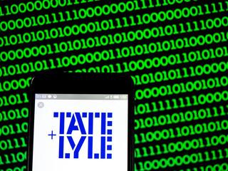 Kiev, Ukraine, March 23, 2019, illustrative editorial. Photo illustration a Tate & Lyle PLC logo seen displayed on a smart phone.