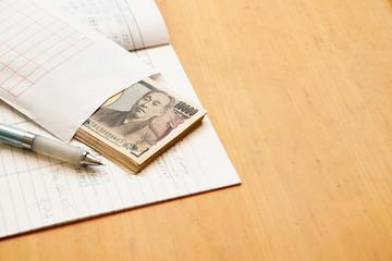 手書きの家計簿と日本のお金