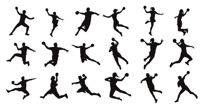 Man Handball Player Silhouette