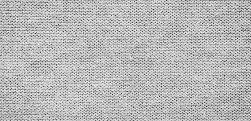 Aluminium Prints Fabric panorama of grey fabric background and texture with copy space