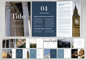 Blue and White Brochure Layout