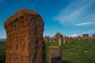 the ancient cemetery in noratus, armenia
