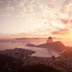 Wall Mural - Sugarloaf mountain at dawn - Rio de Janeiro, Brazil