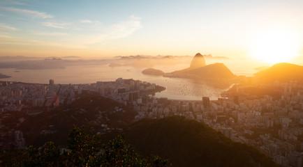 Wall Mural - Aerial panorama of Rio de Janeiro city, Brazil