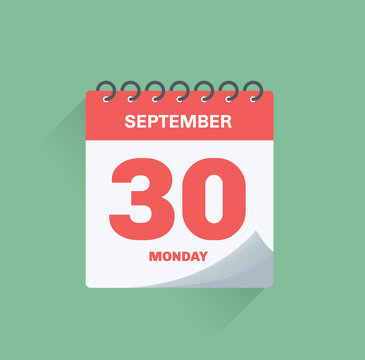 Day calendar with date September 30