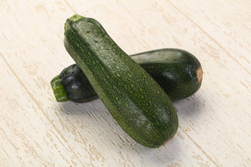 Raw ripe zucchini