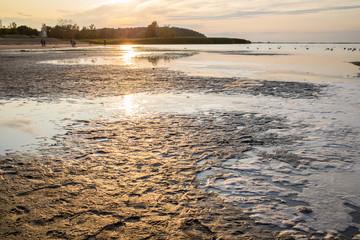Sonnenuntergang am Strand von Freest