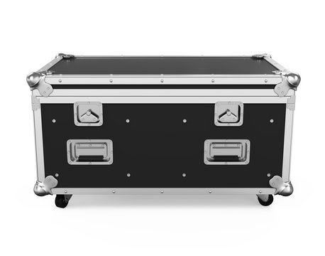 Metallic Road Case Isolated