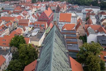 Blick von der Nikolaikirche aufs Greifswald