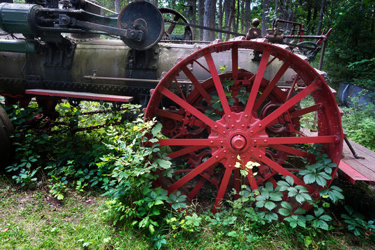 Antique Steam Powered Tractor