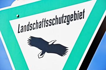 Wall Murals Green coral Landschaftsschutzgebiet Naturschutz Schild Tierschutz