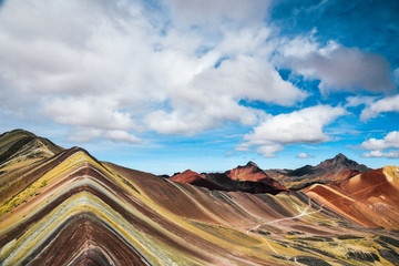 Poster Rainbow Mountain hike in the Peruvian Andes near Cusco, Peru