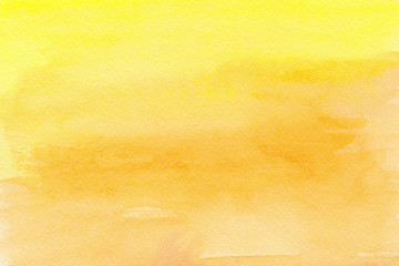Yellow orange watercolor background Ombre paint texture
