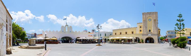 Town square of Kos, Greece