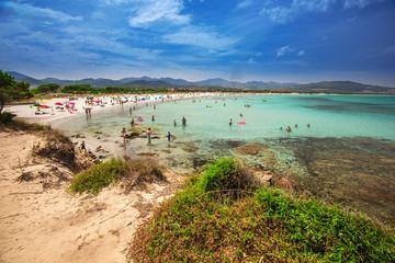 Papiers peints Mexique Budoni beach on Sardinia island, Sardinia, Italy, Europe