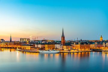 Keuken foto achterwand Stockholm Sunset view of Gamla stan in Stockholm from Sodermalm island, Sweden