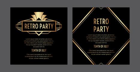 Gatsby Art Deco Party Invitation Design