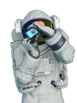 astronaut taking picture of you