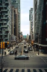 Busy metropolitan street
