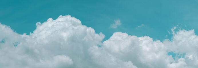 sky cloud blue background panorama, beautiful white, bright weather light simmer