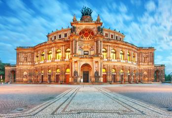 Dresden - Germany - Semper opera in the night Fototapete