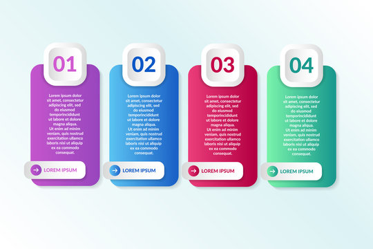 vector list Infographic design with 4 icons options or steps. Infographics for business concept.for presentations banner, workflow layout, process diagram, flow chart and how it work
