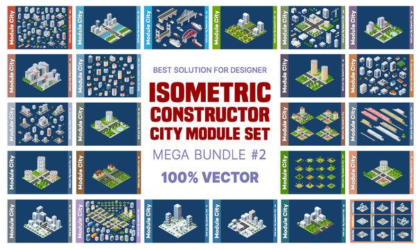 Isometric set of blocks module of areas