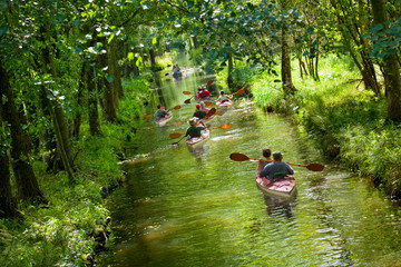 "By canoe through the famous ""Spreewald"", Germany."