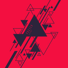 Abstract geometric background with triangles in minimalistic style.