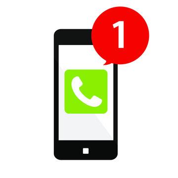 スマートフォンと電話着信