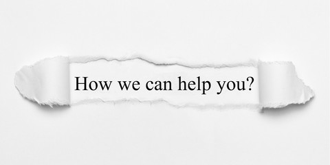 Obraz How we can help you? - fototapety do salonu