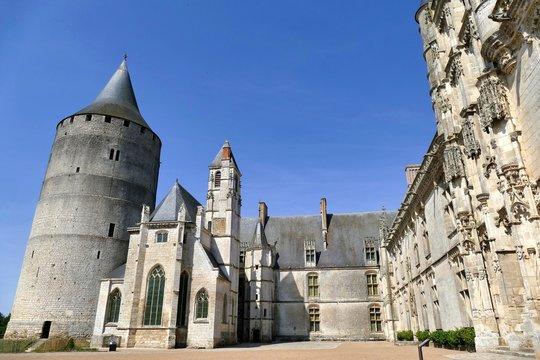 Cour intérieure du Château de Châteaudun, Eure-et-Loir, France