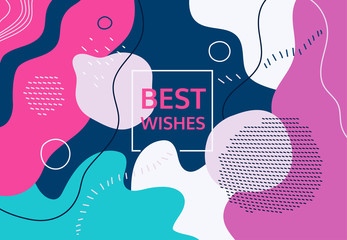 Best wishes - modern flat design style abstract banner