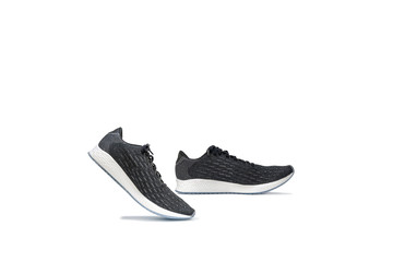 Fashion running sneaker shoes isolated on white background.
