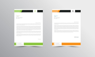 green and orange Abstract Letterhead Design Template - vector Wall mural