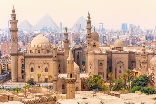 Mosque-Madrassa of Sultan Hassan in the Old city of Cairo, Egypt