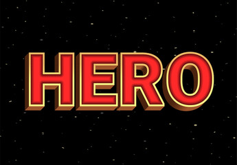 Red And Gold Super Hero Text Effect
