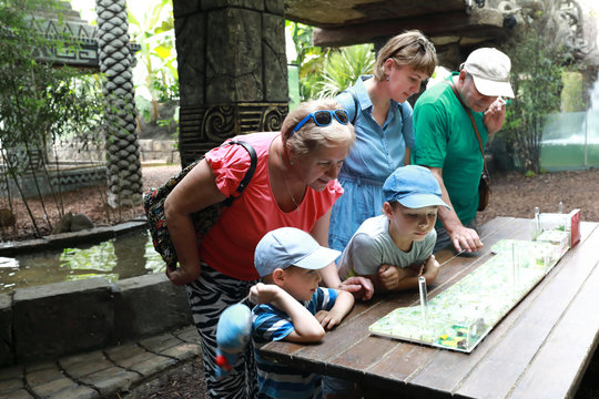 Family at zoo