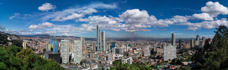 panoramic of city with sky