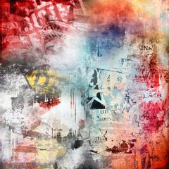 Zelfklevend Fotobehang Graffiti Grunge colorful background